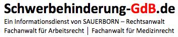 Schwerbehinderung-GdB - Rechtsanwalt Sauerborn